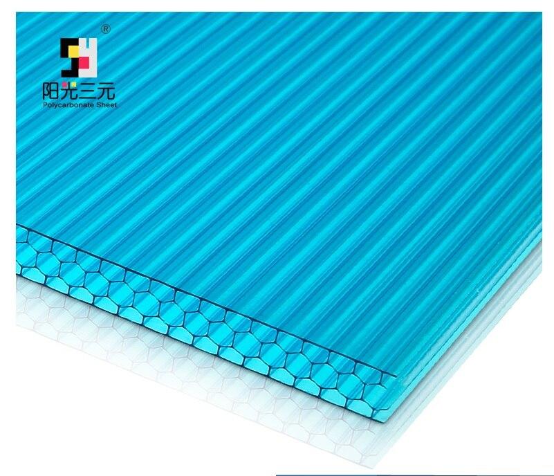 Copriletto Nido D Ape.Us 2580 0 100 Metri Quadrati Pack Uv Protetto Alveolare In Policarbonato Copriletto A Nido D Ape Di Profilo 2 1x3 M Panelx16 Alumiunm Giunti