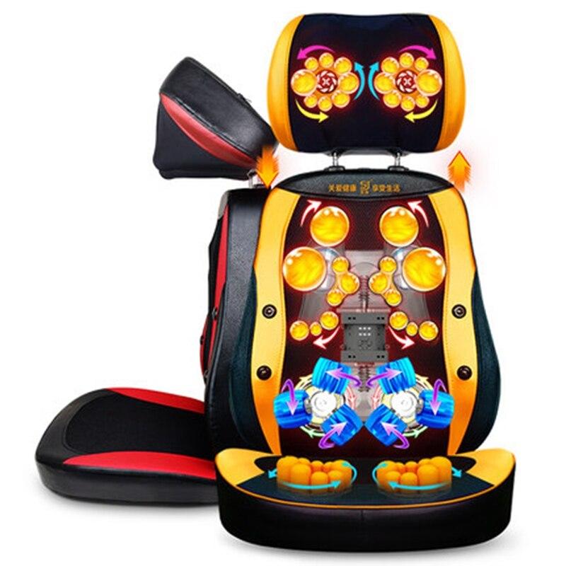 220 V Hot Aggiornamento Del Prodotto Anti-stress Rullo elettrico di Vibrazione Shiatsu collo dispositivo di massaggio cuscino sedia posteriore del corpo