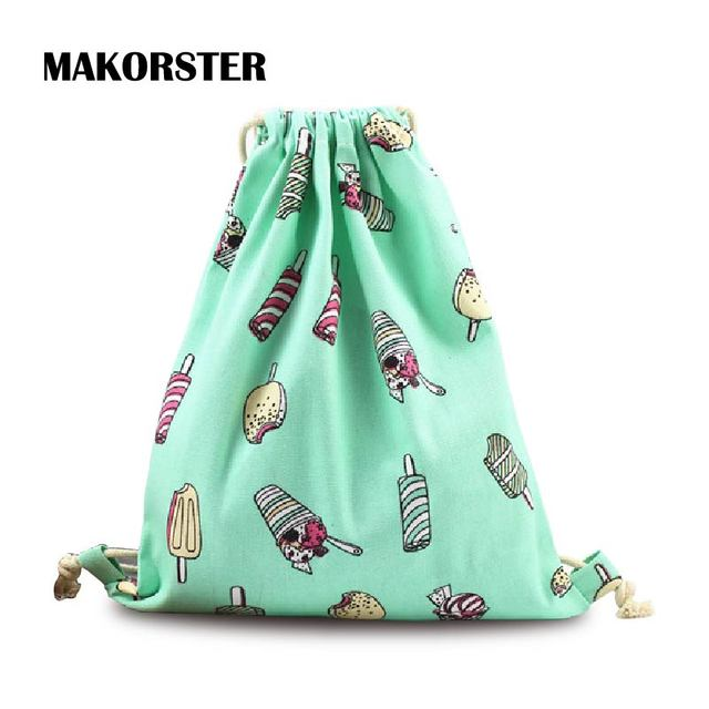 MAKORSTER Fashion backpacks for teenage girls Cotton Fabric Women ...