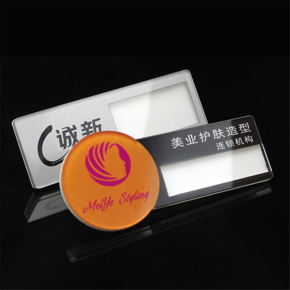 10pc/lot 70*20mm Wholesale logo printed plastic magnetic name ...
