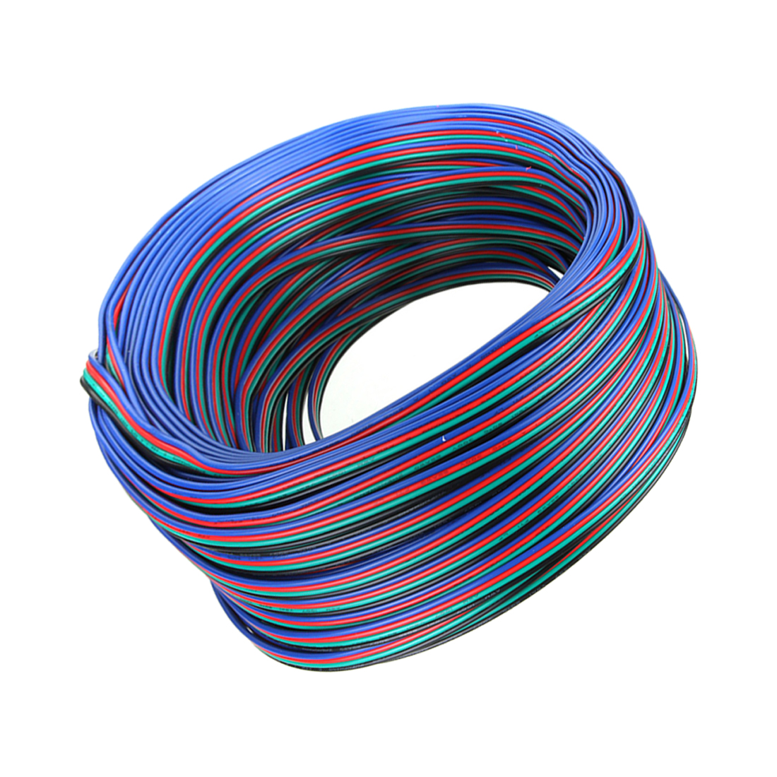 10m 20m 30m 50m 100m 4 Pin Channels LED RGB cable for 5050 3528 LED RGBW Strip Extension Extend Wire Cord Connector