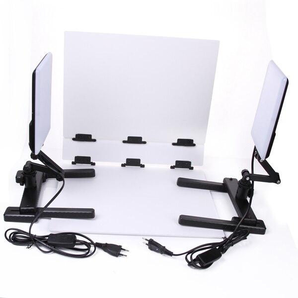 NanGuang LED lampe de lumière de Photo CN T96 2 Kit 220 V éclairage photographique avec Mini Table de tir et Kit de papier de fond - 5