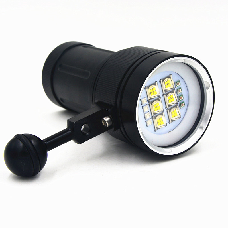 Underwater Video 20000lm Lanttern Waterproof scuba Dive Diving 18650 Flashlight Dive Torch light lamp For Diving ...