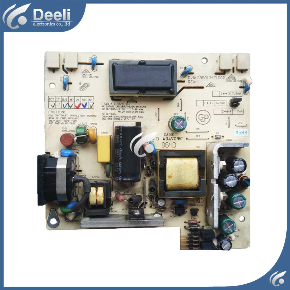 original for Power Supply Board FSP043-2PI01 For ACER AL1916 AL1706 AL1716 used board Working good good working original used for power supply board led50r6680au kip l150e08c2 35018928 34011135