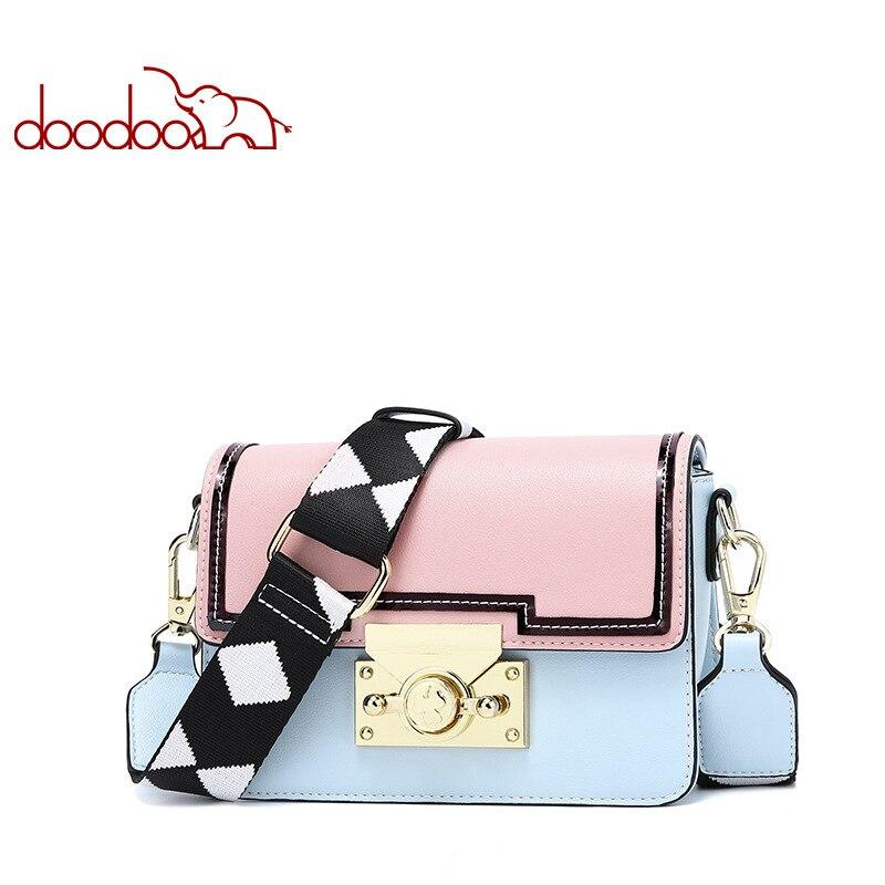 Doodoo kobiet torba na ramię luksusowe kobiety Messenger torby damskie projektant wysokiej jakości skórzane damskie moda Crossbody torby dla 2018 nowy w Torebki na ramię od Bagaże i torby na  Grupa 1