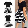 Baby Girls Kids Short Sleeve Summer T-Shirt+Skirts Outfits Set Dress 3-8Y