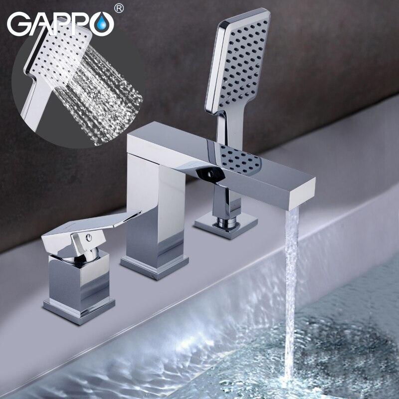 GAPPO torneiras da banheira banheiro banho torneira da banheira misturador chuvas bath shower torneiras torneiras misturadoras rain shower torneira