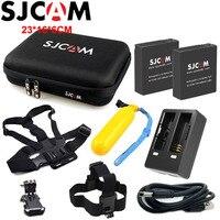 2 шт. SJCAM Батарея + 1 шт. двойной Зарядное устройство для sj6 Легенда + 1 шт. большая сумка для хранения sj7 звезда Перезаряжаемые литий-ионный Бата...