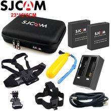 2PCS SJCAM Battery+1PCS Dual Charger for SJ6 Legend+1PCS Large Storage Bag for SJ7 Star SJ8 Series Rechargeable Li-ion Battery(China)