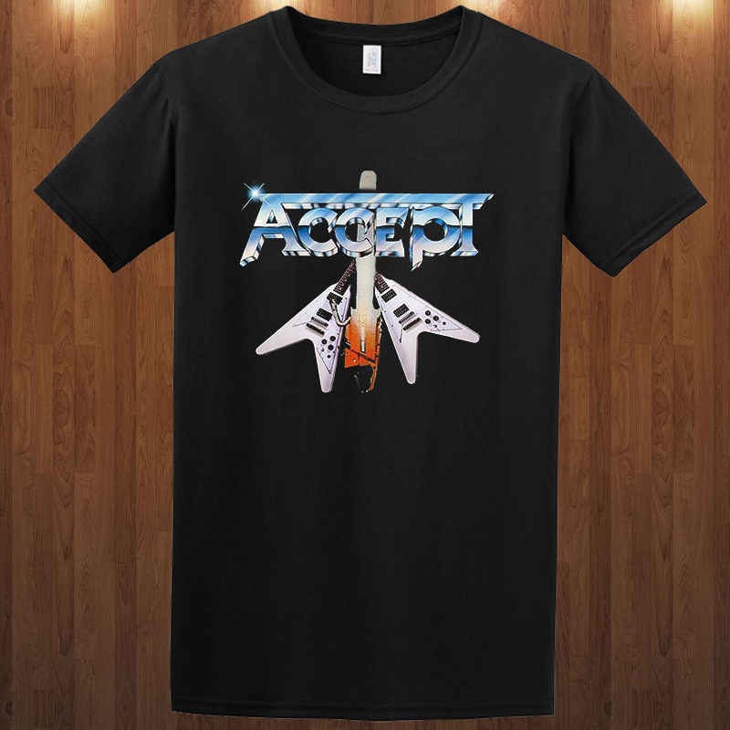 Accepteren Tee Band X Heavy Metal Band S-3XL T-Shirt Rob Armitage Men'S T-Shirt 2018 Nieuwste Grappig Tee Shirt Hipster Zomer