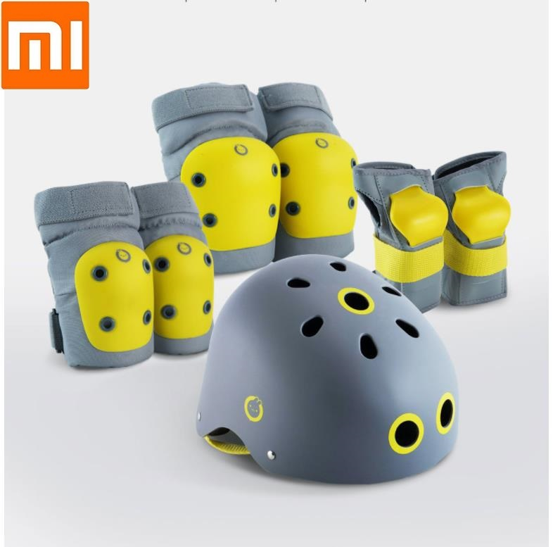 Xiaomi Children s helmet sports protective gear combination skate skateboard Bicycle protector Safety environmental protection