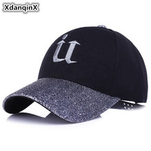 XdanqinX 2019 New Style Fashion Hip Hop Cap Lady Baseball Caps Snapback Summer Sun Visor Shines Duck Tongue For Adult Women