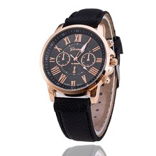 Zegarki damskie Hot Sale famous brand Watches Men Women Casual Roman Numeral Watch Women Men Leather Quartz Wrist Watch Clock roman numeral faux leather strap watch
