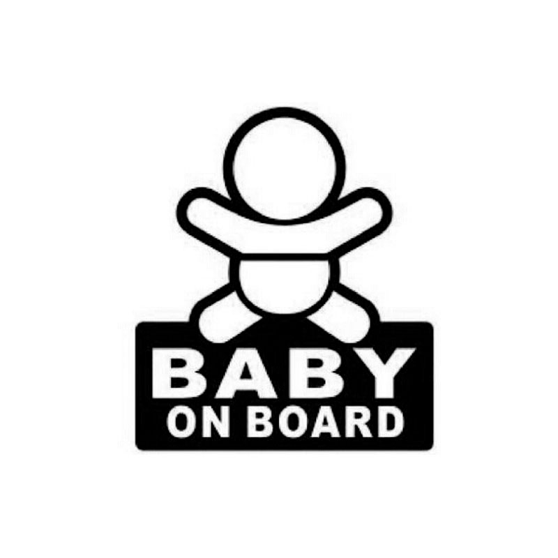 9 7cm11cm Baby On Board Warning Signs To Remind Personality
