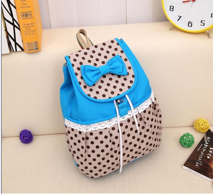 Hot sale 2015 new women backpack printing backpack school backpacks canvas backpack bow 220