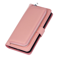 Multifunction Wallet Phone Case For Samsung Galaxy S7 Edge Stand Flip Wallet PU Leather Zipper Purse Pouch Duos G935A G935 G935F