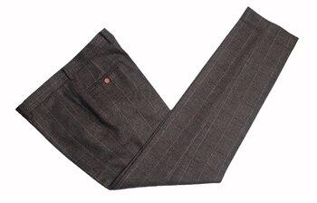 Custom Made Woolen dark brown Herringbone Tweed   6