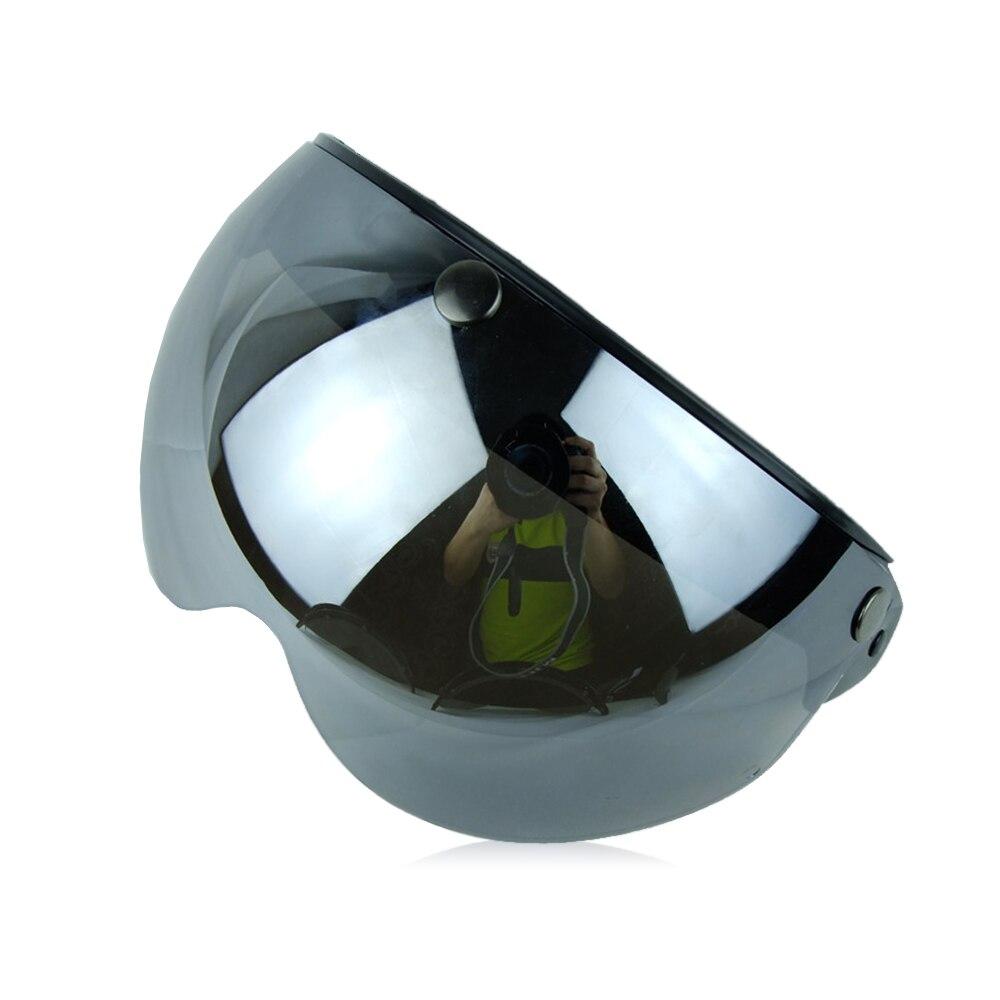 Маска для мотоциклетного шлема защитное ветровое стекло Солнцезащитный козырек очки замедление - Цвет: sliver