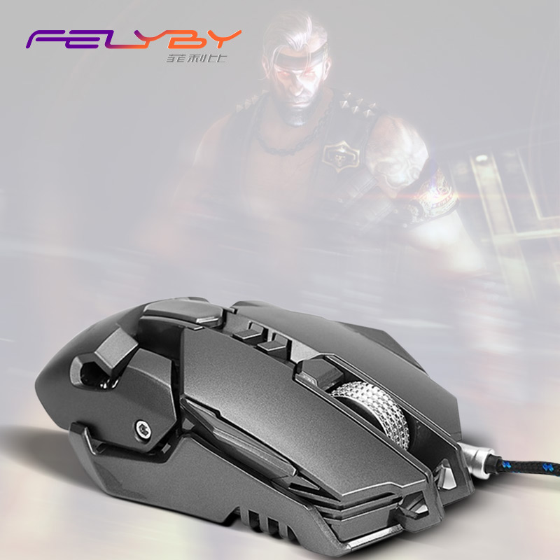 FELYBY 10 million flexible wired mouse professional computer gaming USB optical mouse LED4 color 3200DPI high precision mice i rocks 7810r usb 2 0 wired 1800dpi optical gaming mouse white silvery grey