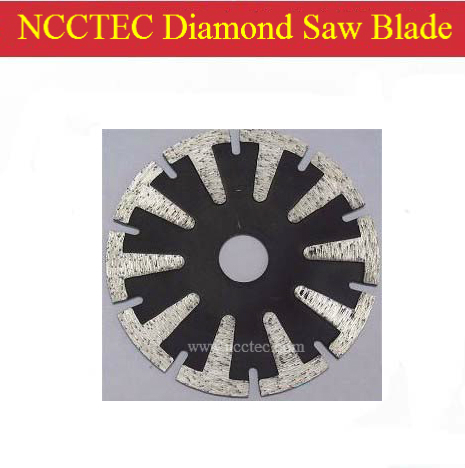7'' Curve Cutting Diamond Blade(5 Pcs Per Package)/180mm T-shape Segmented Type Saw Blade Cutting Disk With Protective Teeth