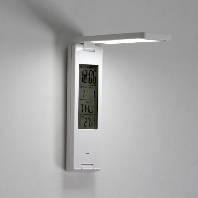 White LED Desk Lamp with Calendar