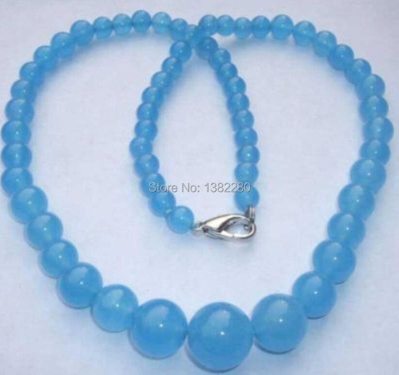 Wholesales beautiful 6-14mm Brazilian Amazon chalcedony Necklace 18