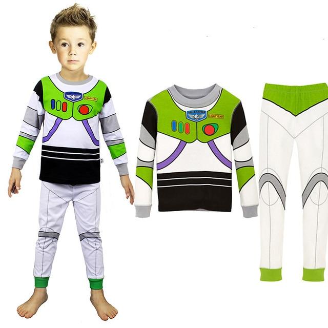 aa0edcb110 Toy Story Woody Costume Clothes For Kids Cartoon Sleepwear Clothing Set Boys  Pyjamas Winter Children Sleeping Outfit Set