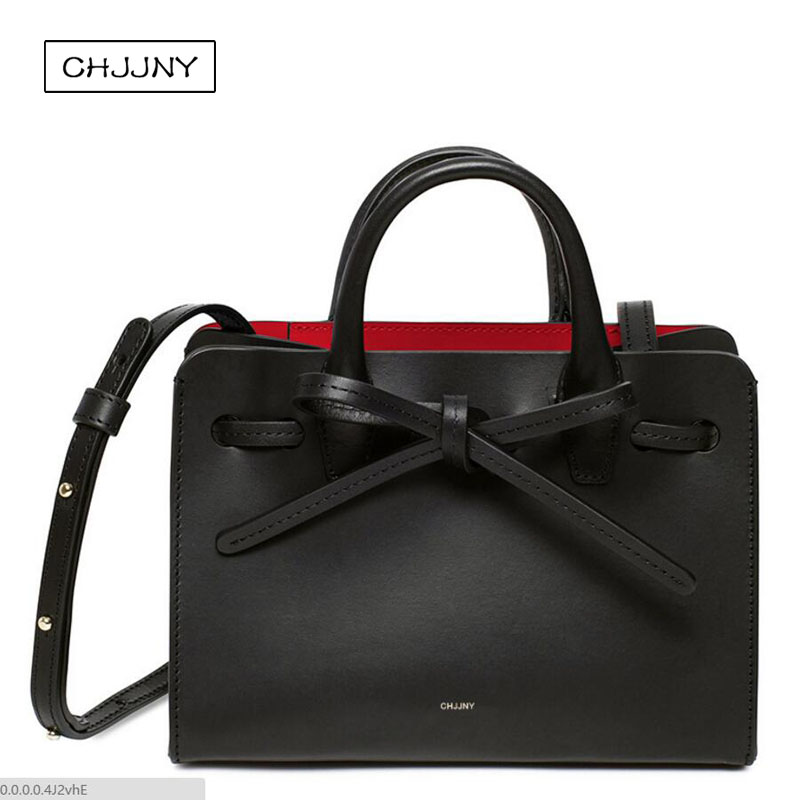 chjjny designer Rachel Mansur and Floriana Gavriel with original logo sun bag genuine leather women vintage hand bags with ties 2016 newest mansur gavriel genuine leather women circular tote bag lady hand bag logo printed free shipping