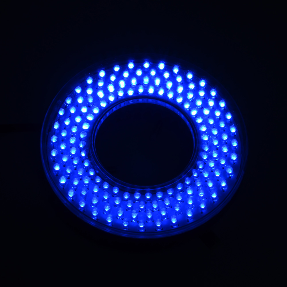 Adjustable 148 LED Ring Light Blue Color illuminator Lamp For Industry Microscope Digital Camera Magnifier with AC Power Adapter цена