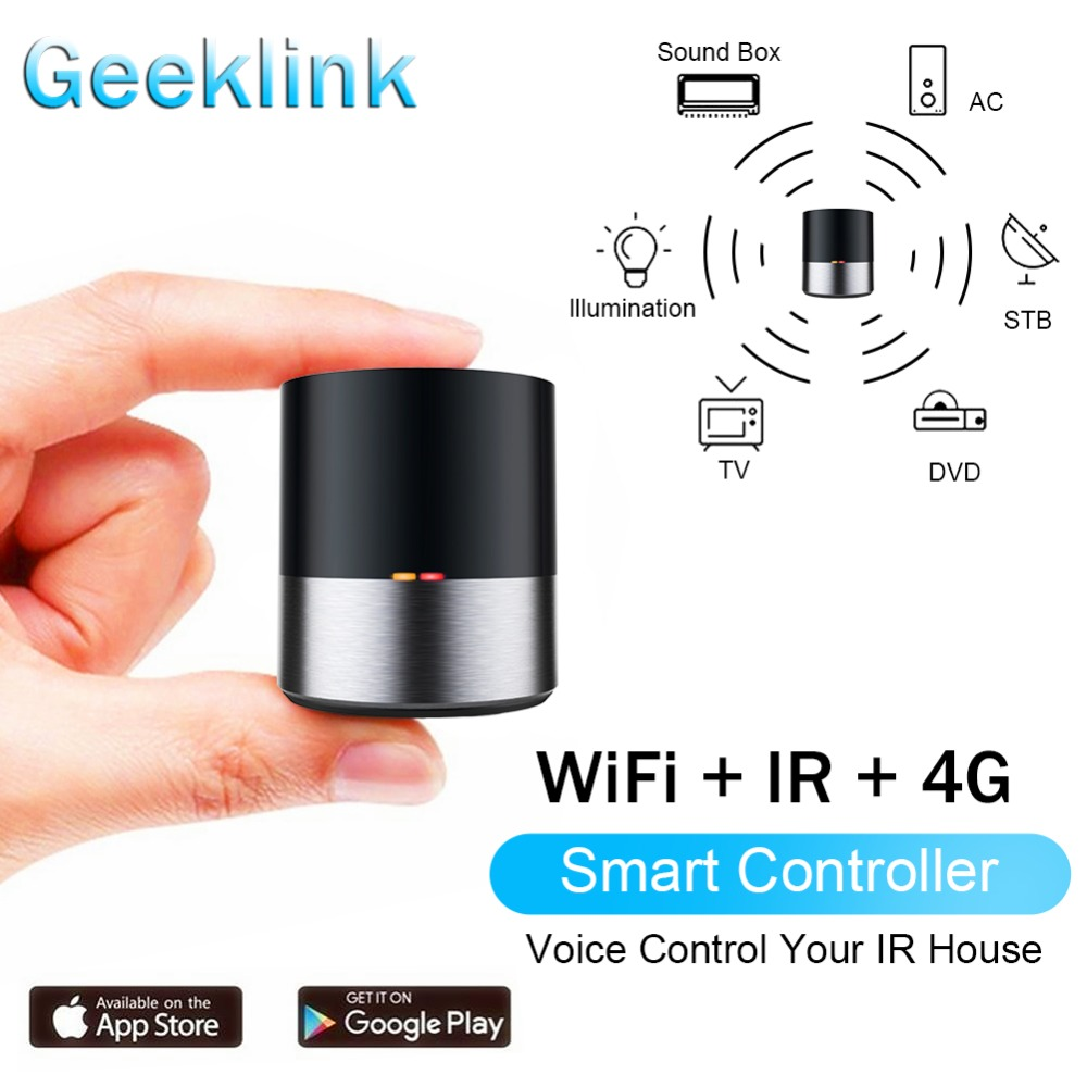 Geeklink Smart Home WIFI+IR Wireless Remote Controller iOS Android APP Siri Voice Control Work for Alexa pk Broadlink RM Mini 3