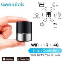 Geeklink Smart Home WIFI+IR+4G+3G Wireless Remote Controller iOS Android APP Voice Control Work for Alexa pk Broadlink RM Mini 3