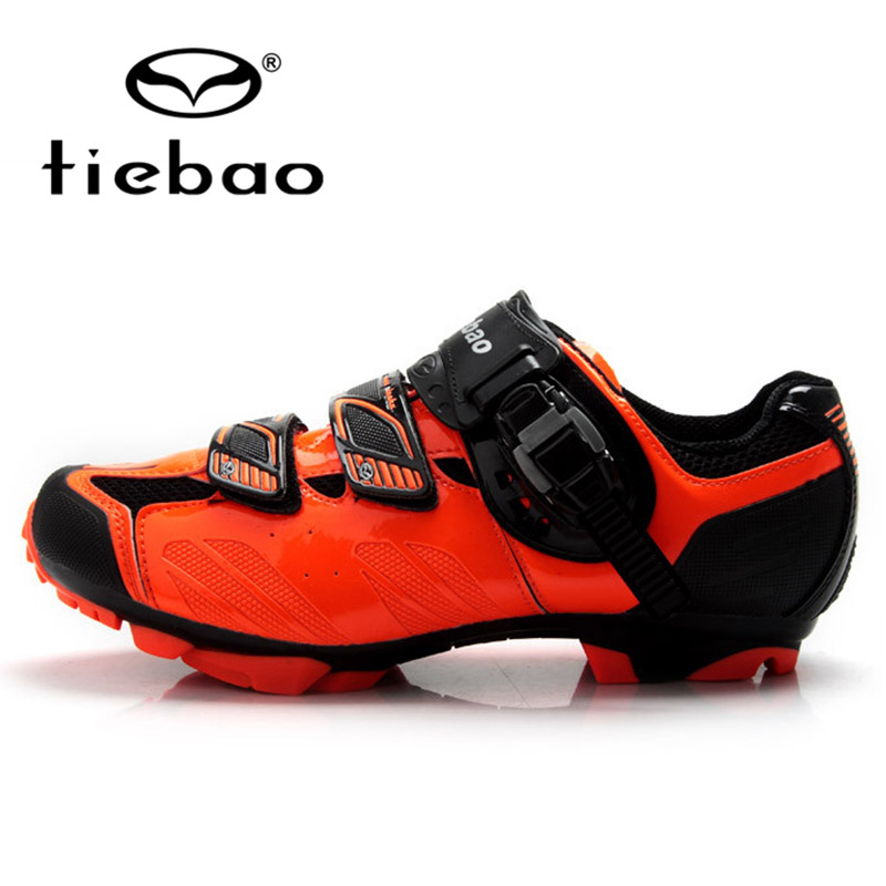 TIEBAO Professional Men Women MTB Mountain Bike Shoes Bicycle Cycling Shoes Self-Locking Nylon-fibreglass Sole Shoes Sneakers