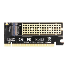 M.2 NVMe SSD Adapter M2 to PCIE 3.0 X16 Controller Card M Key Interface Support PCI Express 3.0 x4 2230-2280 Size M.2 FULL SPEED m2 m 2 ngff nvme key m to pci e 3 0 x4 adapter card riser gen 3 0 cable m2 keym pcie 4x pci express extender cord 32g bps 30cm