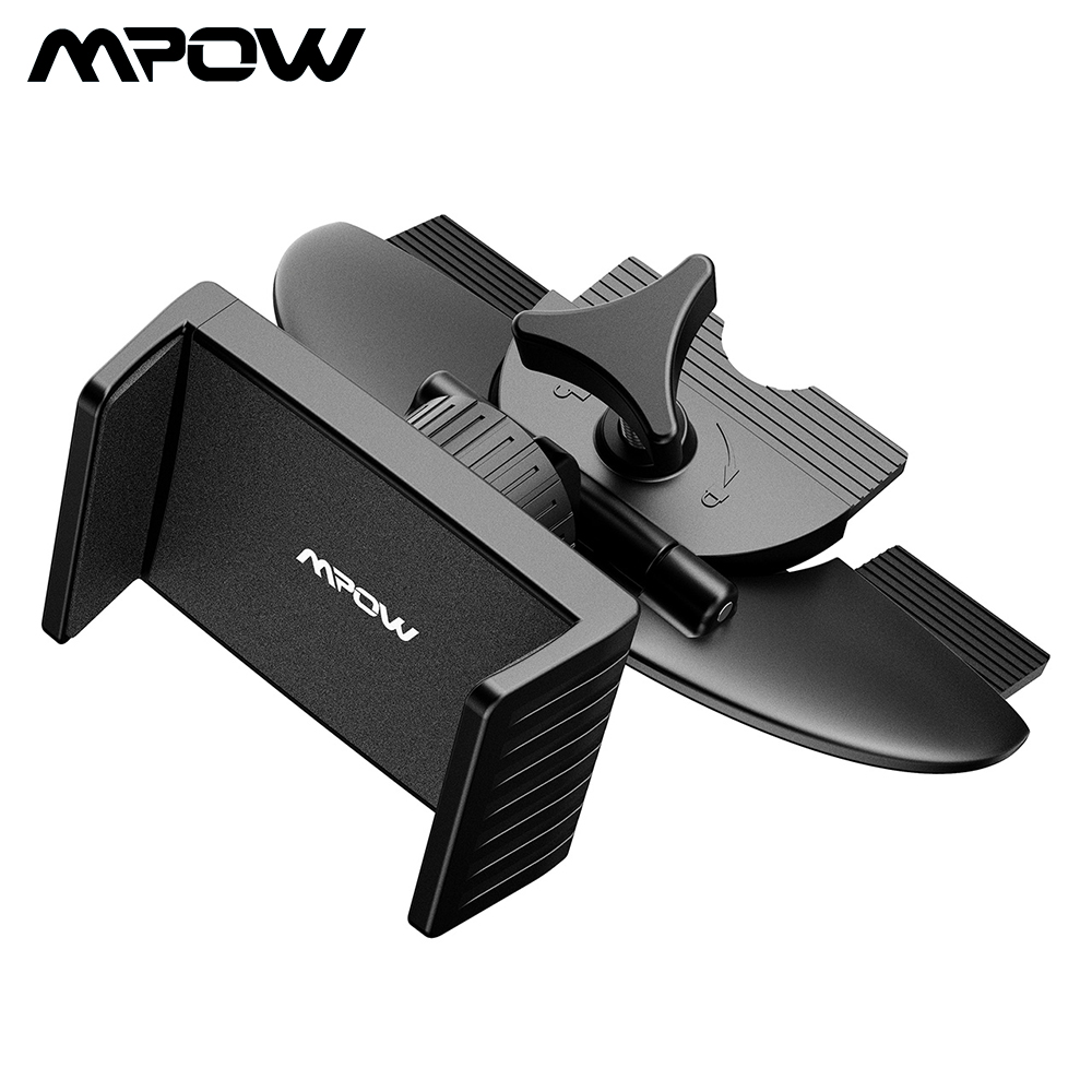 Mpow Universal Car Phone Holder CD Slot Car Mount One-touch Cradle Stand With 360 Degree Rotation For 4-6 Inch Phone iPhone X /8Mpow Universal Car Phone Holder CD Slot Car Mount One-touch Cradle Stand With 360 Degree Rotation For 4-6 Inch Phone iPhone X /8