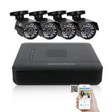 2/3/4 канала системы видеонаблюдения 4CH мини DVR для комплект видеонаблюдения xmeye 1200TVL 720 P ИК Пуля Открытый AHD Камера безопасности Системы VGA hiseeu