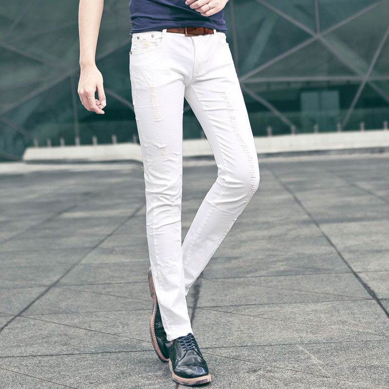 where to buy white skinny jeans for guys - Jean Yu Beauty