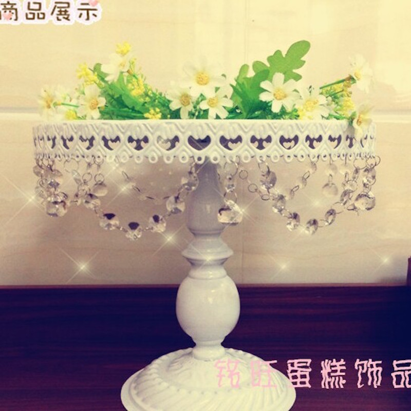 2016 New arrive cake stand cake tray for wedding decoration 8 inches