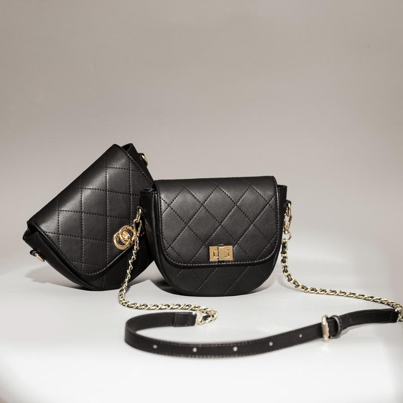 Brand Ladies Small Saddle Bag Diamond Lattice Thread Fashion Purse Shopping Party Coin Women Messenger Shoulder Crossbody Bags