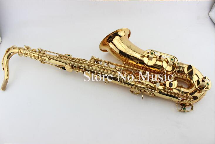 Mark VI Tenor Bb B-flat Saxophone High Quality Instrument Dedicated Brass Gold Lacquer Surface Sax With Case Mouthpiece yibuy b flat tenor saxophone mouthpiece cap ligature gold plated 7 good sound