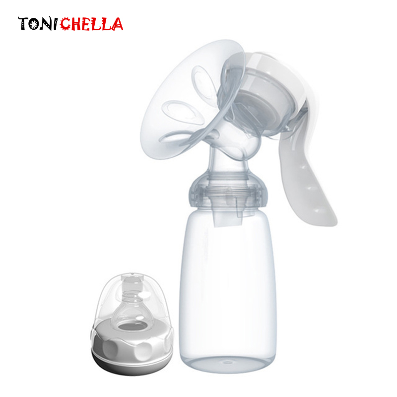 Manual Breast Pump BPA Free Baby Nipple Suction 150ml Feeding Milk Bottle Pump Strong Attraction Women Breast Milk Sucking T0099