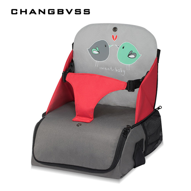 Baby Dining Chair Multi-function Convenience To Go Out Mammy Bag Increase Pad Can Fold Portable Storage Child Dining Chair.