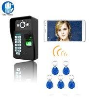 HD 720 P Беспроводной WI-FI RFID отпечатков пальцев видео-телефон двери Дверные звонки домофон Системы ИК Ночное видение Водонепроницаемый для Упр...