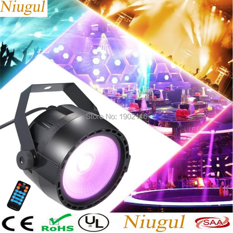 RGB+UV effect Stage Lights with 30W COB LED Par Light by RF Remote and DMX Contol wash effect LED strobe light Disco party lamp effect on composite polymerisation by light curing units invitro study