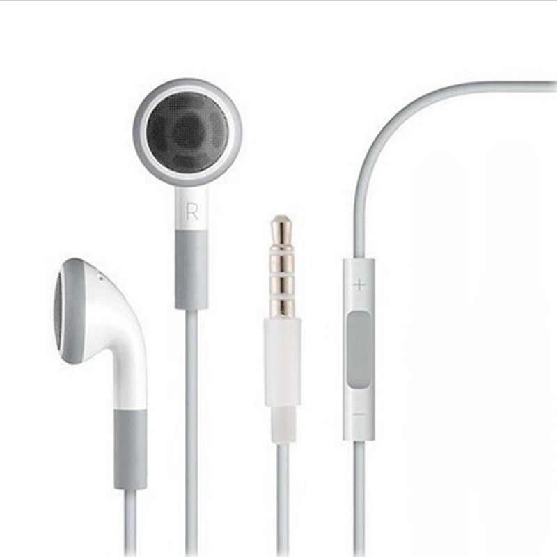 Fone de Ouvido dla iPhone 4 5 6 6s Xiaomi Huawei Samsung 3.5mm przewodowe słuchawki douszne słuchawki douszne Stereo zestaw słuchawkowy