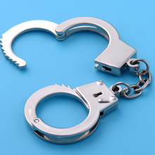 Creative Metal Key Modeling Keychain Simulation Handcuffs Toy Handcuffs Key Ring  Key Holder Jewerly Gifts