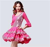 New Adult Latin Dancing Competition Dress High Quality Custom Made Tango Salsa Samba Cha cha Dance Costume Latin Skirt Women