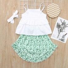 Summer Twinning Sister Girl Ruffle Floral Clothing Set