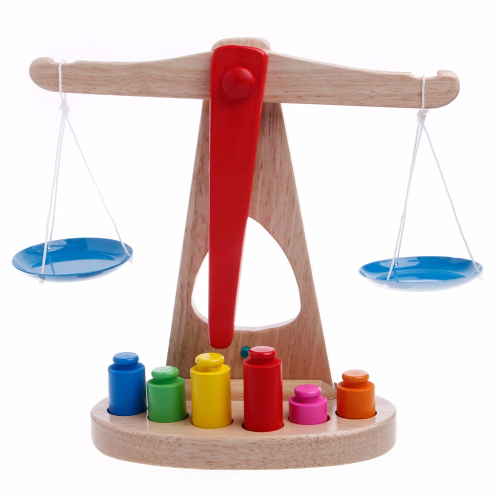 Montessori Educational Baby Early Evelopment Scale Funny Balance Game Wooden Toy