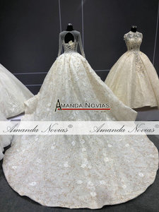 Image 3 - מדהים אמיתי עבודת חתונה שמלה 2021 robe דה soiree