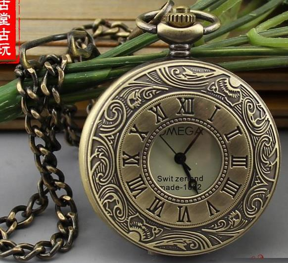Rare ancienne dynastie Qing cuivre creux mécanique montre montre de poche hommes dames mécanique montre de poche, livraison gratuite
